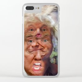 Shithole Curser, Hairway To Freedum Clear iPhone Case