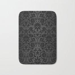 Black Damask Pattern Design Bath Mat