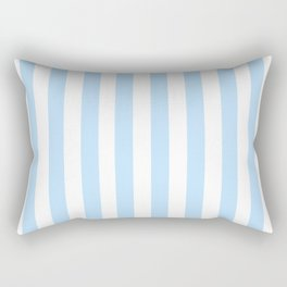 Classic Seersucker Stripes in Blue + White Rectangular Pillow