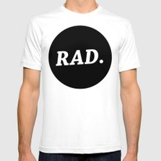 RAD White Mens Fitted Tee SMALL