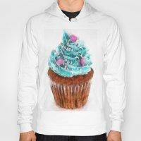 cupcake Hoodies featuring Cupcake by Manuela Mishkova