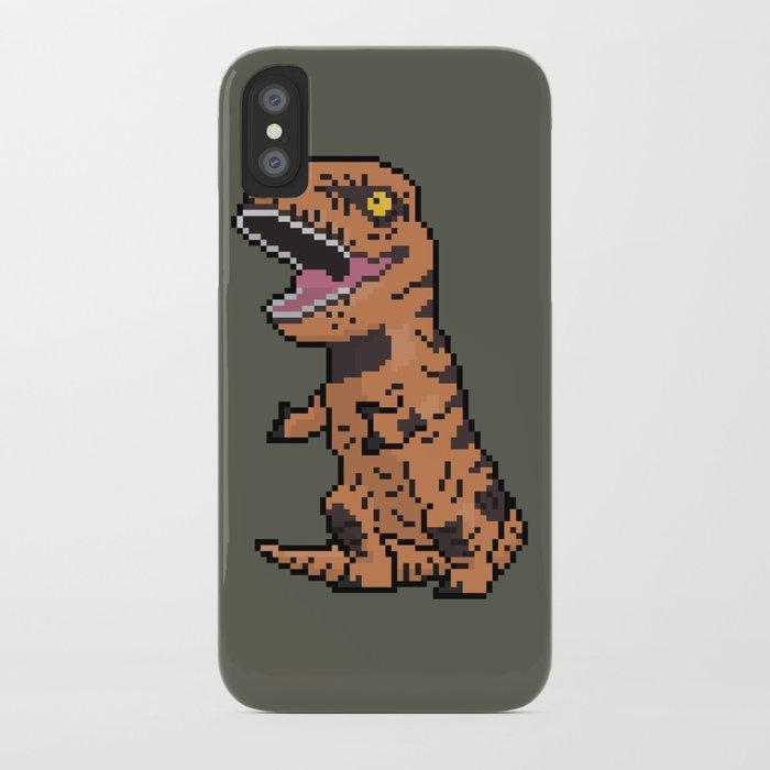 new styles 2257b b790e Pixely T-Rex iPhone Case