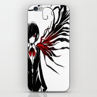 tokyo ghoul iPhone & iPod Skins featuring tokyo ghoul  Touka by Lee Chao Charlie Vang