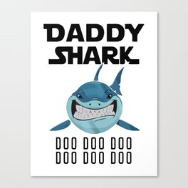 Doo Doo Doo Vintage Daddy Shark Canvas Print