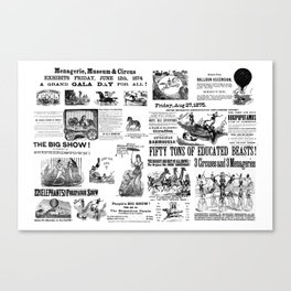 Victorian Circus Poster Canvas Print