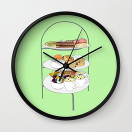 English Afternoon Tea Cakes Wall Clock
