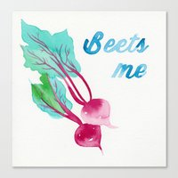 pun Canvas Prints featuring BEET PUN by Connie Cann