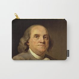 portrait of Benjamin Franklin by Joseph Duplessis Carry-All Pouch