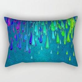 Dripping Paint Rectangular Pillow