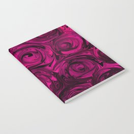 Berry Fuchsia Roses Notebook