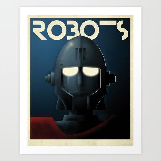 Robots - Crag Art Print
