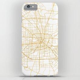 HOUSTON TEXAS CITY STREET MAP ART iPhone Case