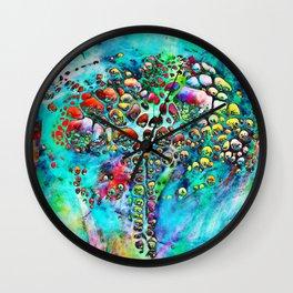 Colored Tafoni 4 Wall Clock