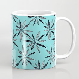 Elegant Thin Flowers With Dots And Swirls Coffee Mug