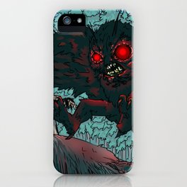 MOTHMAN DIVE BOMBING SASQUATCH iPhone Case