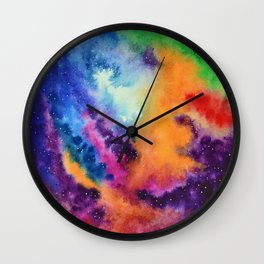 Galaxy lights, colours of Sky Wall Clock