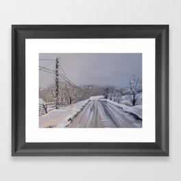 The Last Dead End Road Framed Art Print