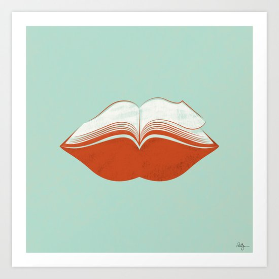 Read My Lips Art Print