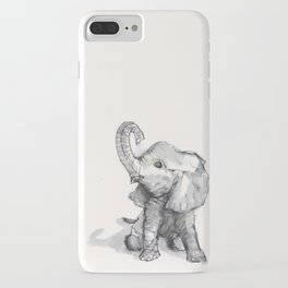 tiny elephant sitting in the corner iPhone Case