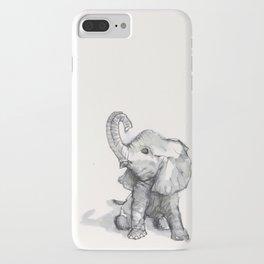 tiny elephant sitting in the corner iPhone Case