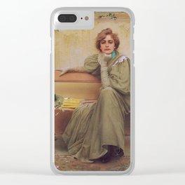 Vittorio Matteo Corcos - Sogni - Dreams - Victorian Belle Époque Retro Vintage Fine Art Clear iPhone Case