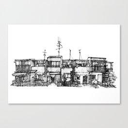 Urban space - Row of shops #3 Canvas Print