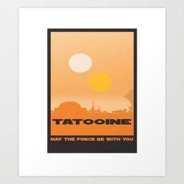 Planet Tatooine Art Print