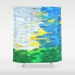 Sunny day for Impressionism Shower Curtain