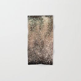 Sparkling GOLD BLACK Lady Glitter #1 #decor #art #society6 Hand & Bath Towel