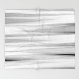 Black and White Stripes Abstract Throw Blanket