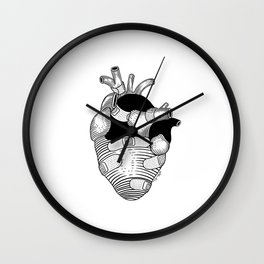 The strongest hearts have the most scars Wall Clock
