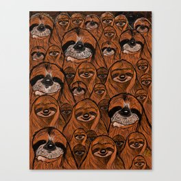 Mountains and mountains of sloths. Canvas Print