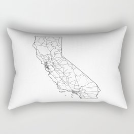 California White Map Rectangular Pillow