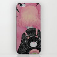 loll3 iPhone & iPod Skins featuring T e d d y  by lOll3