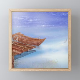 Perfect reflection of beautiful sky | Miharu Shirahata Framed Mini Art Print