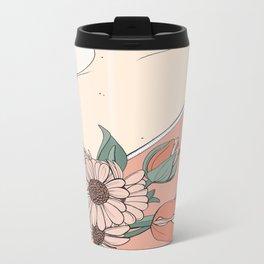 Daisies & Tulips Metal Travel Mug