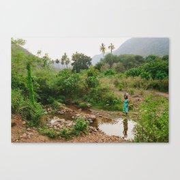 Collecting Water Canvas Print