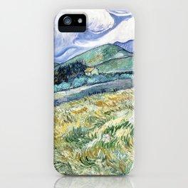 Landscape from Saint-Remy by Vincent van Gogh iPhone Case
