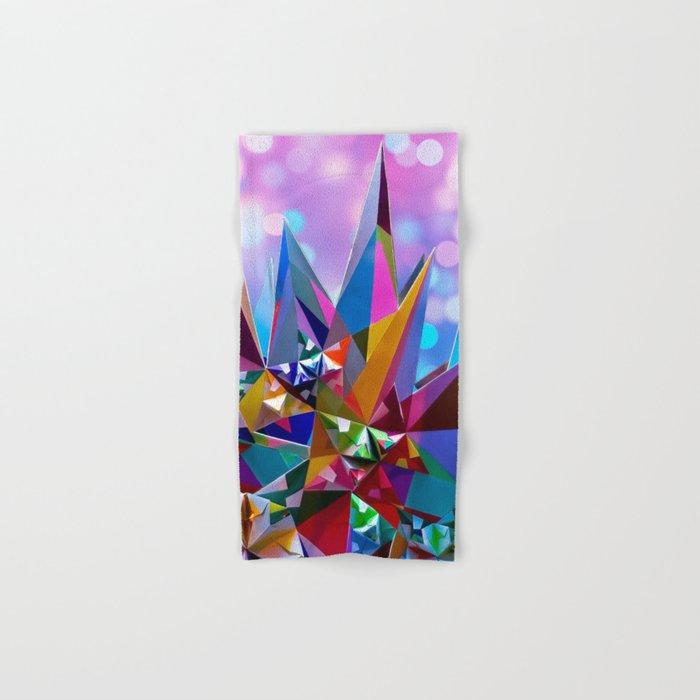 Festive colorful crystals Hand & Bath Towel