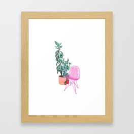 Scandi Design Tropical Interior Framed Art Print