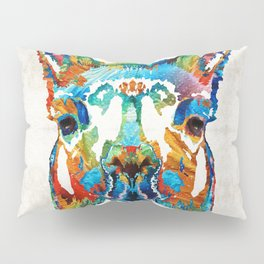 Colorful Llama Art - The Prince - By Sharon Cummings Pillow Sham
