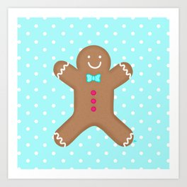 Yummy Gingerbread Man Cookie Art Print