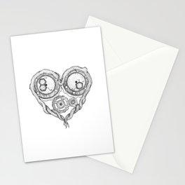 Chemistry of love: dopamine and serotonin formula (black and white version) Stationery Cards