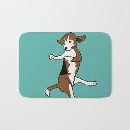 The Dancing Beagle Bath Mat