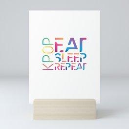 Eat Sleep K-Pop Repeat KPop Korean Hangul Seoul Mini Art Print