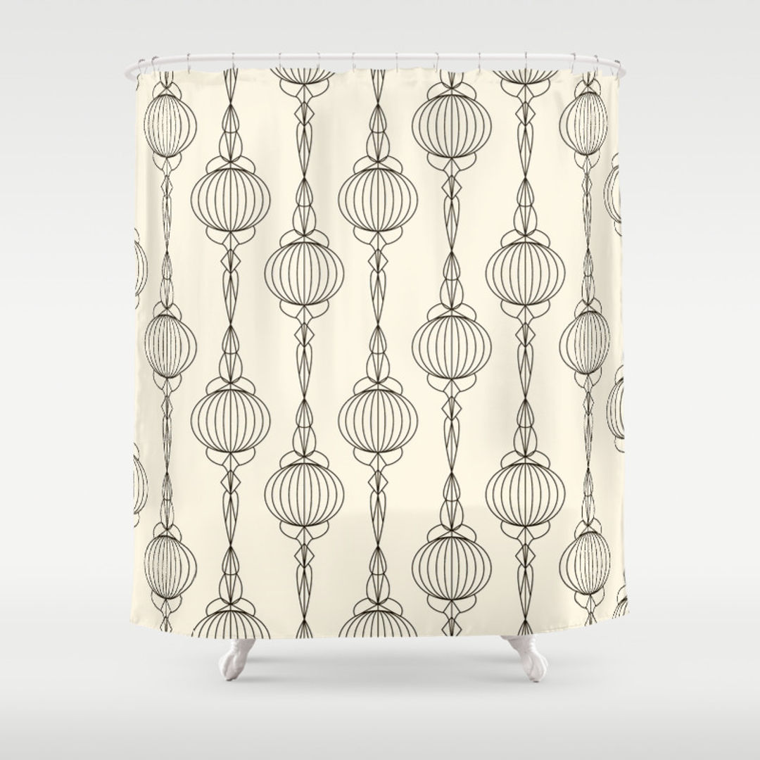 Mustache shower curtain - Mustache Shower Curtain 37