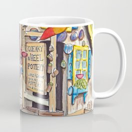 Squeaky Wheel Pottery Coffee Mug