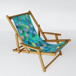 Summer Ocean Metal Mermaid Scales Sling Chair