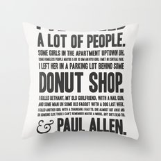 American Psycho - Patrick Bateman's Confession Throw Pillow
