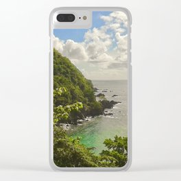 Mountain view of Caribbean Sea Clear iPhone Case